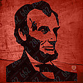 Abraham Lincoln License Plate Art by Design Turnpike