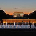 Abraham  Lincoln Memorial Sunset by Joseph Semary