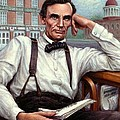 Abraham Lincoln Of Springfield Bicentennial Portrait by Jane Bucci
