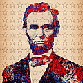 Abraham Lincoln Pop Art by Bekim M