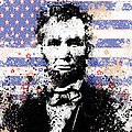 Abraham Lincoln Pop Art Splats by Bekim Art