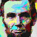 Abraham Lincoln Portrait - Abstract by Samuel Majcen