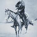 Abraham Lincoln Riding His Judicial Circuit by Louis Bonhajo
