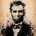 Abraham Lincoln Splats Color by Bekim M