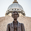 Abraham Lincoln Statue At Illinois State Capitol by Paul Velgos