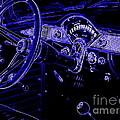 Abstract 1955 Chevy Bel Air  by Deborah Fay