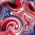 Abstract American Flag by Ron Hedges