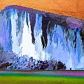 Abstract Arizona Mountains At Icy Dawn by Elaine Plesser