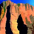 Abstract Arizona Mountains At Sunset by Elaine Plesser