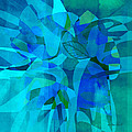 abstract - art- Blue for You by Ann Powell
