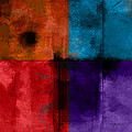 abstract - art- Color Block Square by Ann Powell