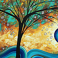 Abstract Art Contemporary Painting Summer Blooms By Madart by Megan Duncanson