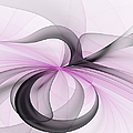 Abstract Art Fractal With Pink by Gabiw Art