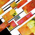 abstract art Homage to Mondrian by Ann Powell