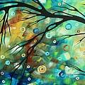 Abstract Art Landscape Circles Painting A Secret Place 2 By Madart by Megan Duncanson