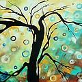 Abstract Art Landscape Circles Painting A Secret Place 3 By Madart by Megan Duncanson