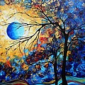 Abstract Art Landscape Metallic Gold Textured Painting Eye Of The Universe By Madart by Megan Duncanson