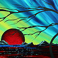 Abstract Art Landscape Seascape Bold Colorful Artwork Serenity By Madart by Megan Duncanson