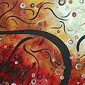 Abstract Art Original Circle Landscape By Madart by Megan Duncanson