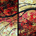 Abstract Art Original Landscape Painting Bring Me Home By Madart by Megan Duncanson
