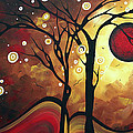 Abstract Art Original Landscape Painting Catch The Rising Sun By Madart by Megan Duncanson