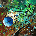 Abstract Art Original Landscape Painting Mint Julep By Madart by Megan Duncanson