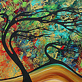 Abstract Art Original Landscape Wild Abandon By Madart by Megan Duncanson