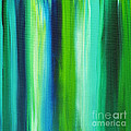 Abstract Art Original Textured Soothing Painting Sea Of Whimsy Stripes I By Madart by Megan Duncanson