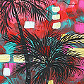 Abstract Art Original Tropical Landscape Painting Fun In The Tropics By Madart by Megan Duncanson