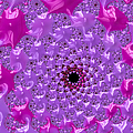 Abstract Art Radiant Orchid Pink Purple Violet by Matthias Hauser