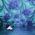Abstract Blue World by Gabiw Art