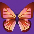 Butterfly Graphic Orange Pink Purple by MM Anderson