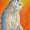 Jazzy Abstract Cat by Barney Napolske