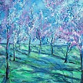 Abstract Cherry Trees by Eric  Schiabor