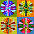 Abstract Circles And Squares 1 by Amy Vangsgard