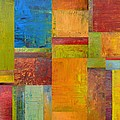 Abstract Color Study Collage Ll by Michelle Calkins