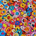 Abstract Colorful Flowers 1 - Paint Joy Series by Ana Maria Edulescu