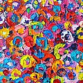 Abstract Colorful Flowers 3 - Paint Joy Series by Ana Maria Edulescu