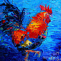 Abstract Colorful Gallic Rooster by Mona Edulesco