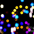 Abstract Colorful Pentagon Shaped Bokeh Lights by Beverly Claire Kaiya