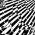 Abstract Distortion Sun Meditation Maze  by Yonatan Frimer Maze Artist