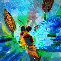 Abstract Dragon Fly by Pam Festa