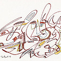 Abstract Drawing Fifteen by Lynne Taetzsch