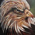 Abstract Eagle Painting by Sarat kumar Moharana