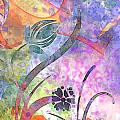 Abstract Floral Designe - Panel 2 by Debbie Portwood