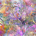 Abstract Floral Designe  by Debbie Portwood