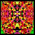 Abstract Floral Duvet by Bruce Nutting