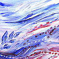 Abstract Floral Marble Waves by Irina Sztukowski