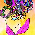 Abstract Flower 2 by Anne Costello