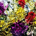Abstract Flowers Messy Painting by Barbara Griffin